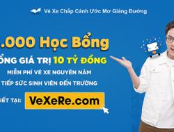 """Chương trình """"Vé xe chắp cánh ước mơ giảng đường 2018"""" – Vexere.com"""