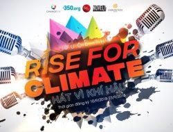 Cuộc thi Rise for Climate – Hát vì khí hậu