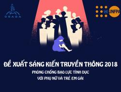 Cuộc thi đề xuất sáng kiến truyền thông 2018 – Phòng chống bạo lực tình dục với phụ nữ và trẻ em gái