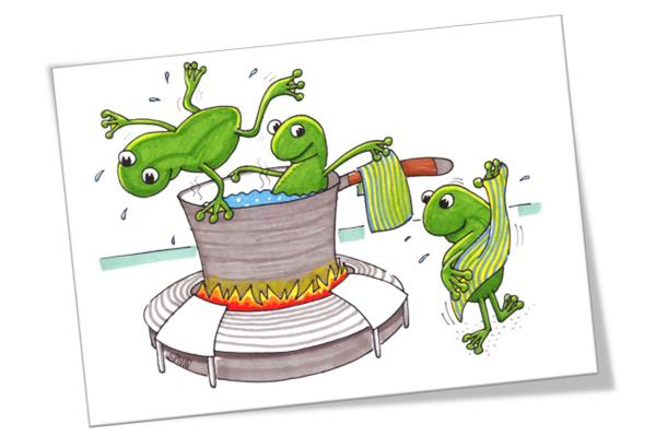 Câu chuyện con ếch nằm trong nồi nước sôi. Ảnh 2
