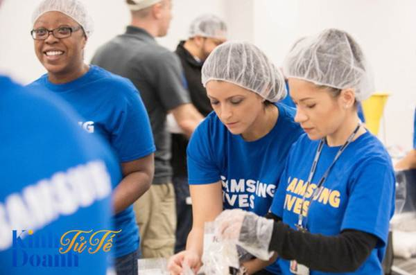 Nhân viên Samsung tại Mỹ tham gia các hoạt động tình nguyện vì cộng đồng tại Mỹ.
