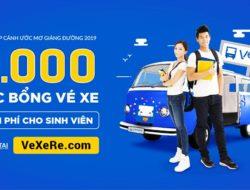 """Vexere.com dành 6000 học bổng """"Vé xe chắp cánh ước mơ giảng đường 2019″"""