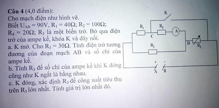 Vật lý 9 năng khiếu - Mạch điện