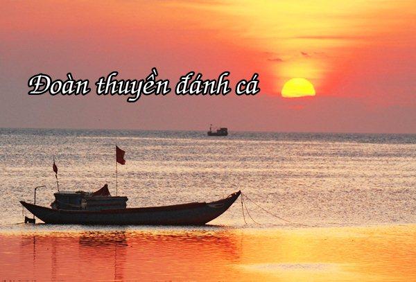 Bài thơ Đoàn thuyền đánh cá - Huy Cận