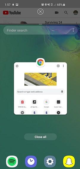 Chia đôi màn hình đa nhiệm Samsung