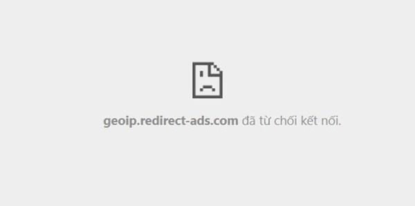 Lỗi Geoip từ chối kết nối